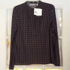 Nwt Geometric button up blouse